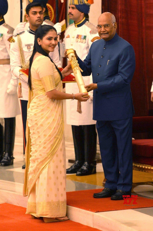 New Delhi: President Kovind presents Padma Awards - Prashanti Singh #Gallery
