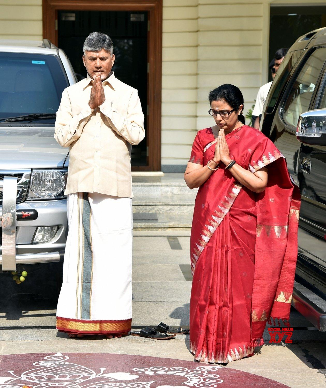 Tirupati (Andhra Pradesh): Chandrababu Naidu visits Tirupati Balaji Temple (Batch - 2) #Gallery