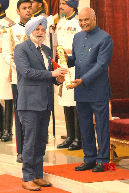New Delhi: President Kovind presents Padma Awards - Harvinder Singh Phoolka - (Batch 5) #Gallery