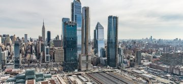 (190315) -- NEW YORK, March 15, 2019 (Xinhua) -- Photo provided by Related-Oxford on March 15, 2019 shows a view of Hudson Yards in New York, the United States. Hudson Yards, a 25-billion-U.S. dollar urban complex located on the far West Side of New York's Manhattan, opened its first half on Friday as the largest private real estate development in the U.S. history. (Xinhua/Related-Oxford)