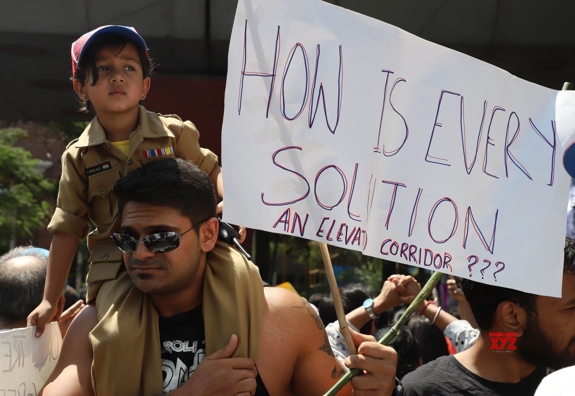 Bengaluru: People protest against Bengaluru's elevated corridor project #Gallery