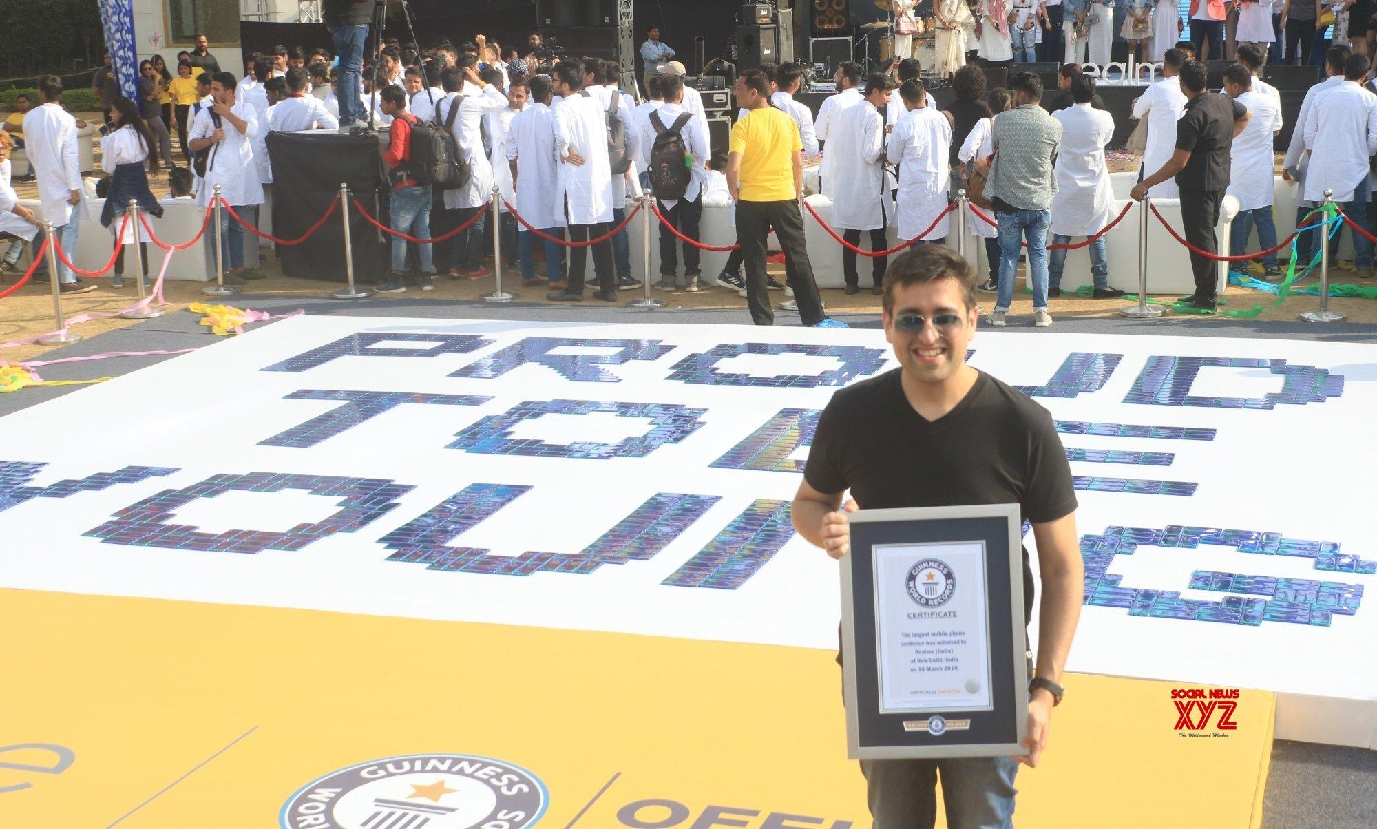 New Delhi: Realme India creates Guinness World Record #Gallery