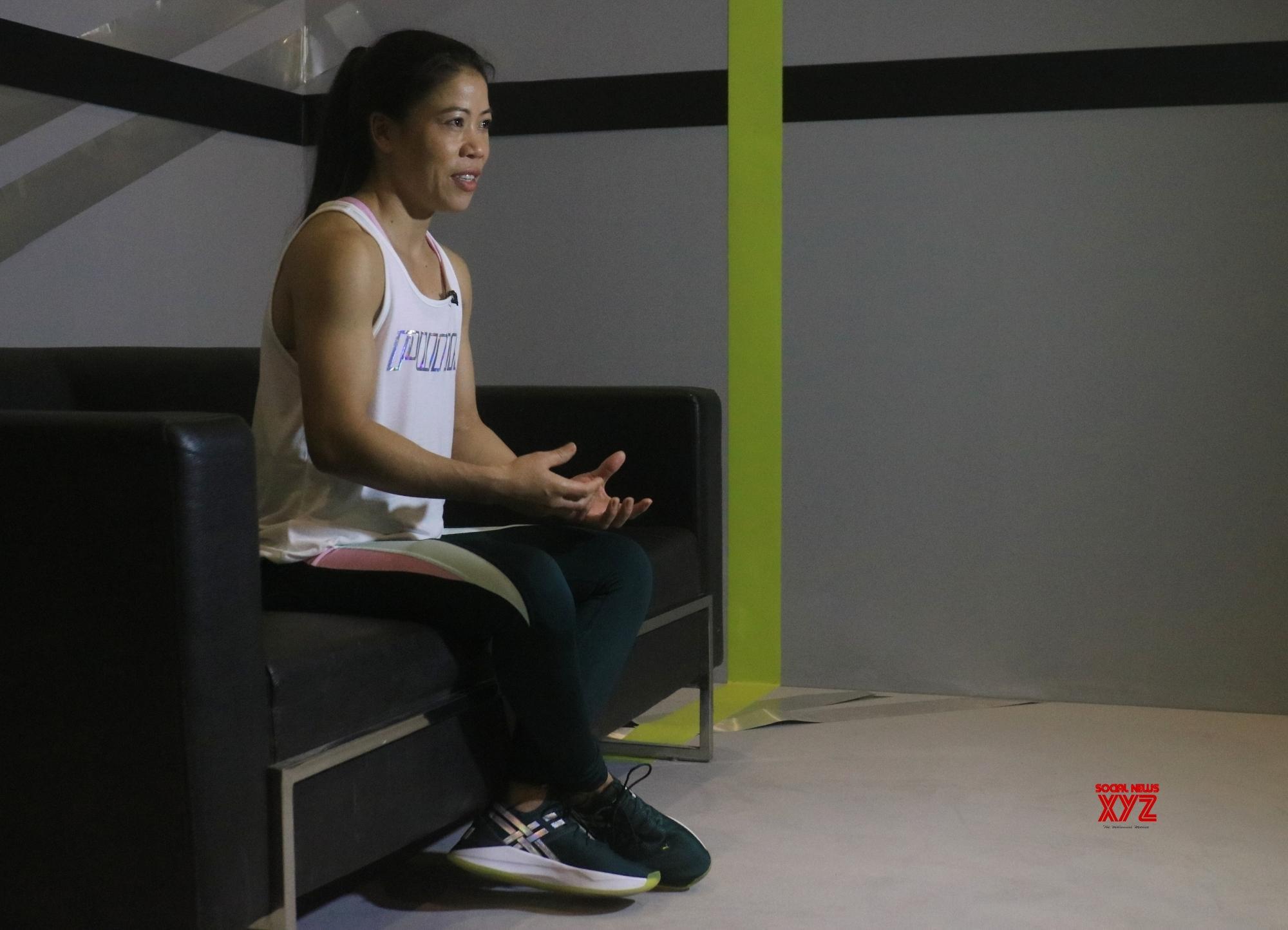 New Delhi: MC Mary Kom during a photo shoot #Gallery