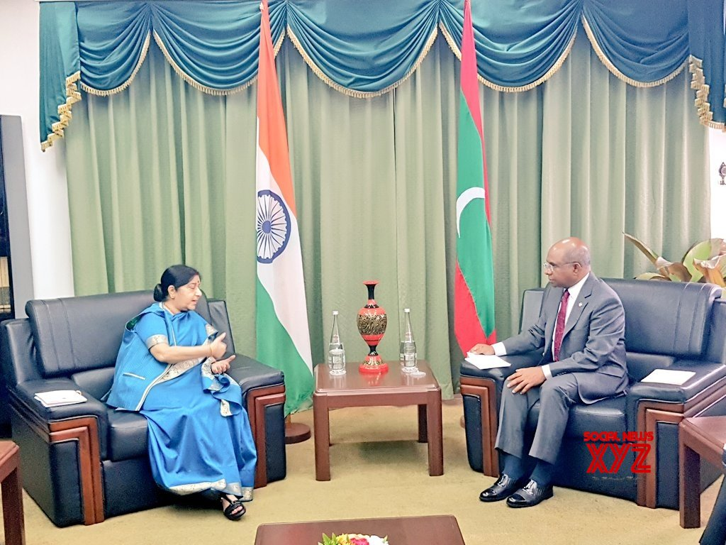 Maldives: Bilateral talks and Joint Ministerial meeting - Sushma Swaraj, Abdulla Shahid #Gallery