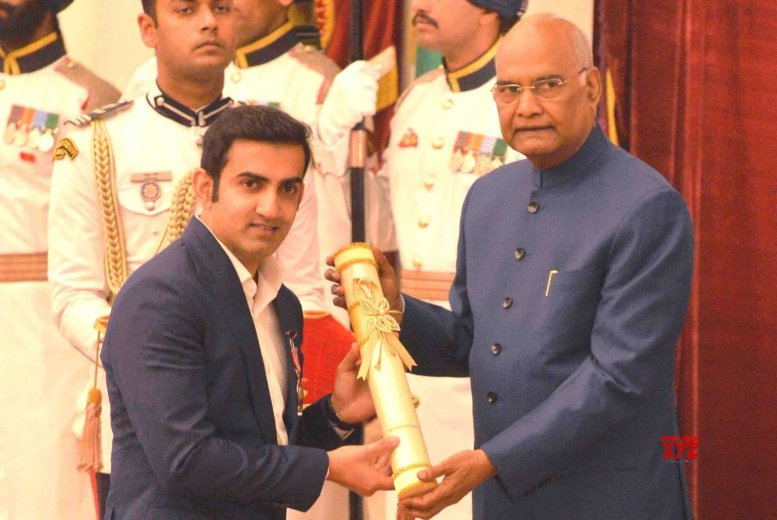 Gambhir thanks fans, critics after receiving Padma Shri