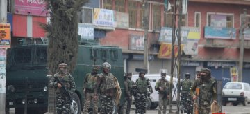 Sopore: Security beefed up in the wake of a grenade attack in Sopore, Jammu and Kashmir on March 21, 2019. (Photo: IANS)