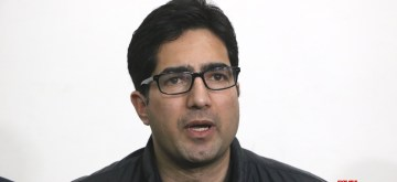 Srinagar: Former IAS officer, Shah Faesal, who launched his own political party, the Jammu and Kashmir Peoples Movement (JKPM) recently, addresses a press conference in Srinagar, on March 23, 2019. Addressing the press conference, he said that his party won't contest the upcoming Lok Sabha elections. (Photo: IANS)