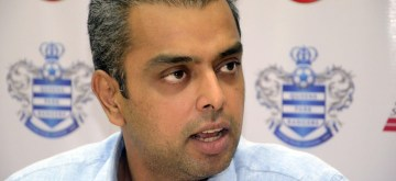 Union Minister of State for IT and Communications Milind Deora during a programme at Churchgate in Mumbai on March 27, 2014. (Photo: Sandeep Mahankal/IANS)