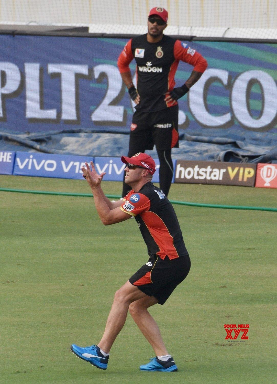 Hyderabad: IPL 2019 - Royal Challengers Bangalore's practice