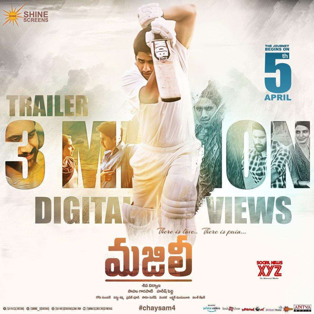 Majili Trailer Crosses 3 Million Digital Views In Less Than 22 Hrs