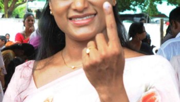 Pulivendula (Andhra Pradesh): YS Bharathi Reddy casts vote