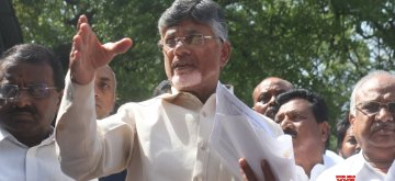 New Delhi: Telugu Desam Party (TDP) President and Andhra Pradesh Chief Minister N. Chandrababu Naidu talks to media persons after meeting the Chief Election Commissioner (CEC), in New Delhi on April 13, 2019. (Photo: IANS)