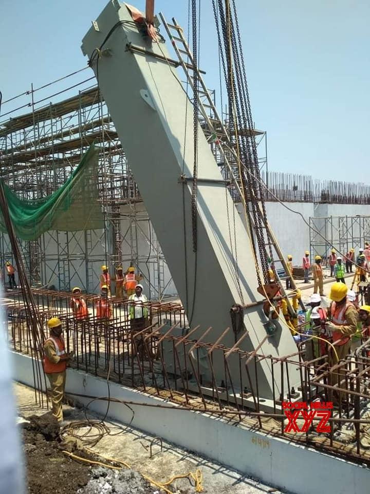 Andhra Pradesh Secretariat Building First Grid Erected Stills