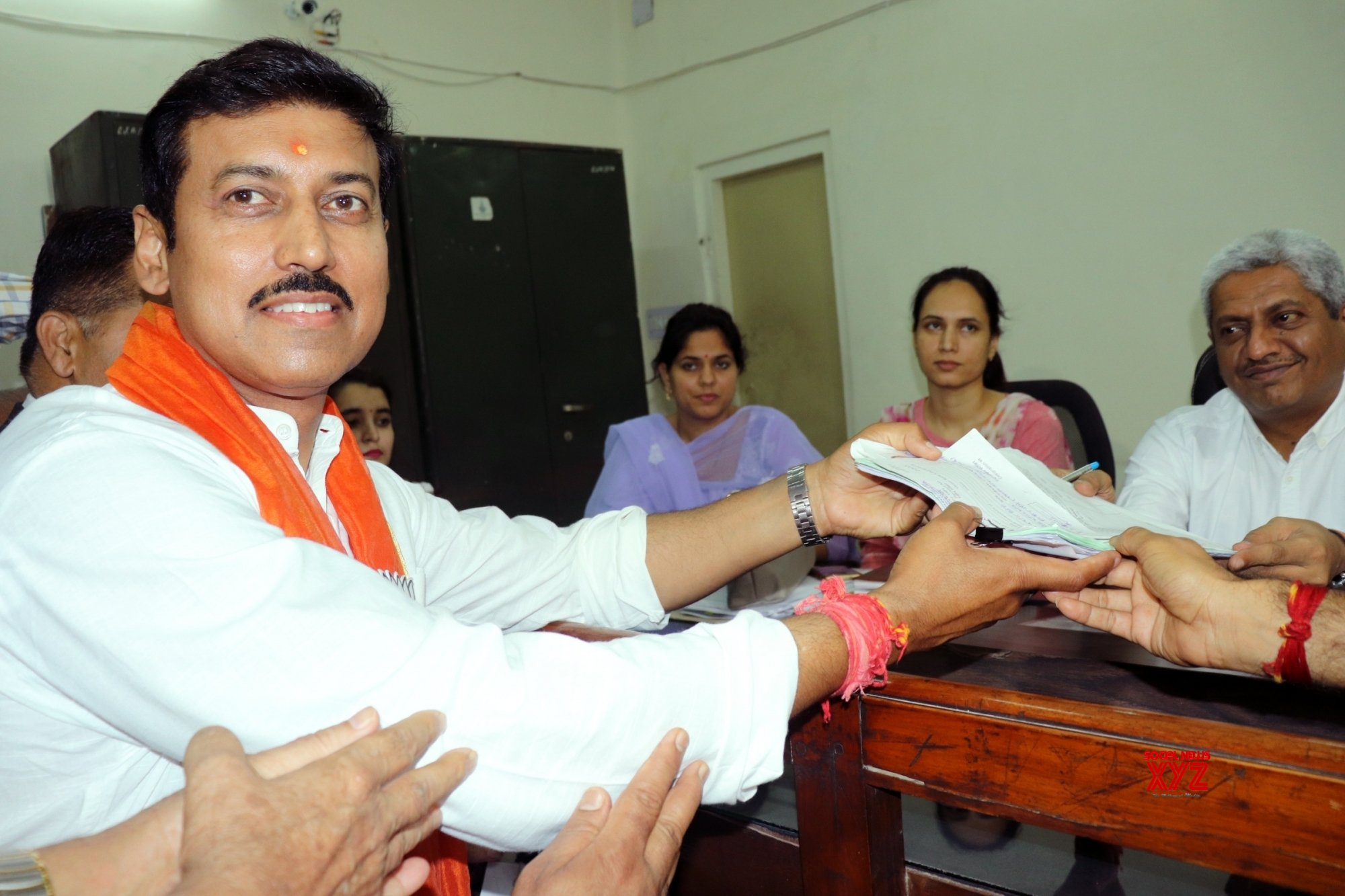 Jaipur: 2019 Lok Sabha elections - Rajyavardhan Singh Rathore files nomination (Batch - 2) #Gallery