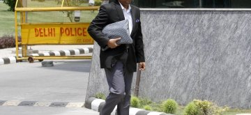 New Delhi: Delhi lawyer Gautam Khaitan, who was arrested in 2014 for allegedly laundering bribe money in AgustaWestland deal arrives to appear before Central Bureau of Investigation (CBI) in New Delhi, on May 5, 2016. (Photo: IANS)