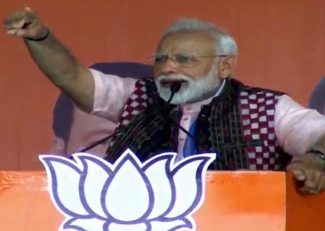Modi attacks Odisha's BJD government on corruption