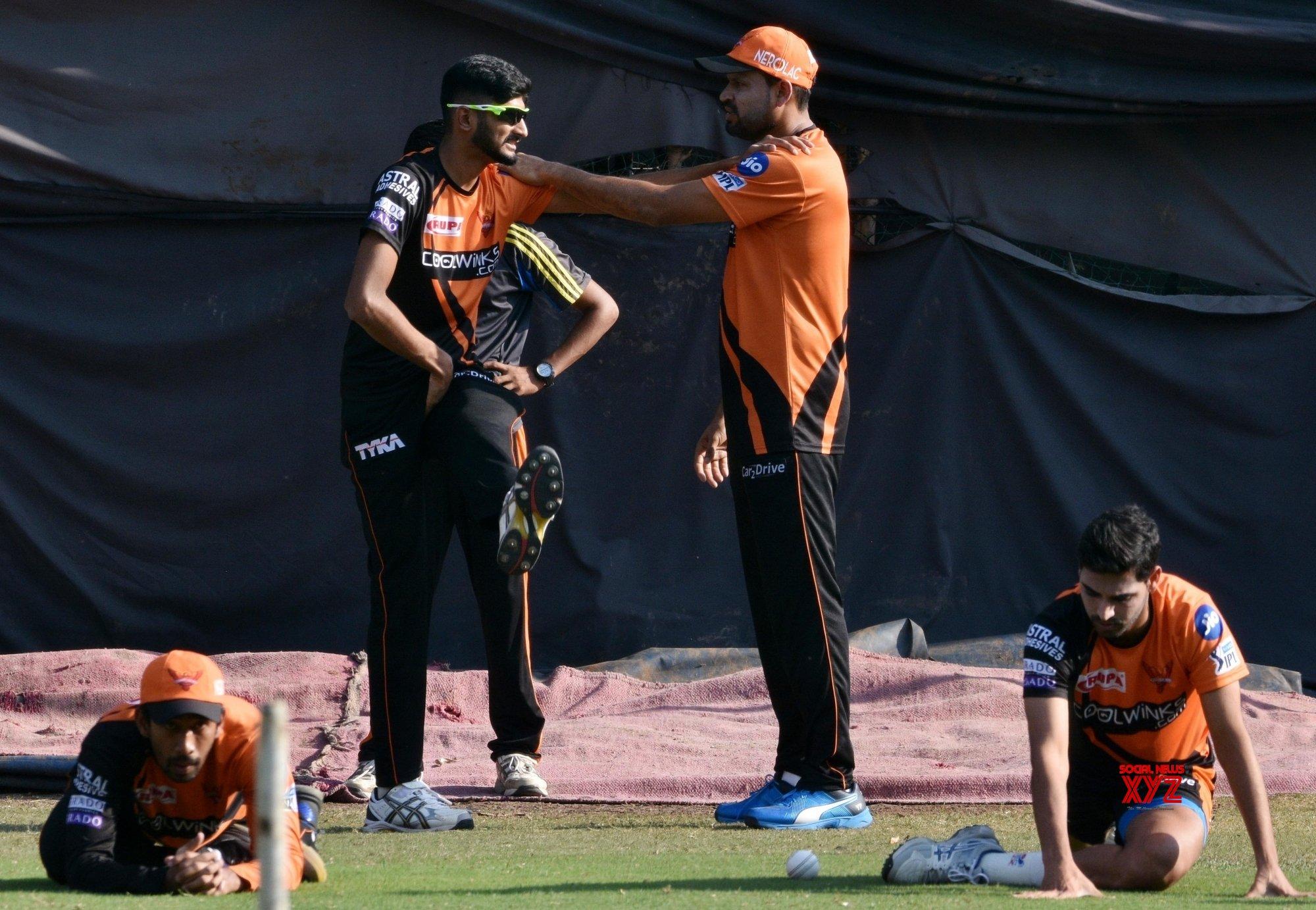 Hyderabad: Sunrisers Hyderabad's practice session #Gallery
