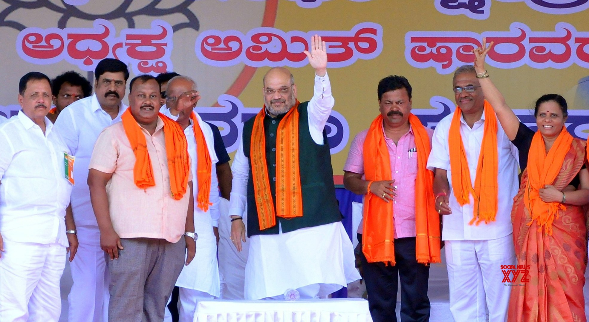 Davanagere: Amit Shah during BJP rally #Gallery