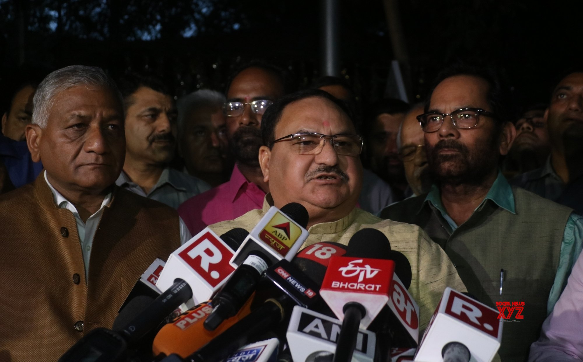 New Delhi: BJP delegation talks to the media after meeting CEC #Gallery
