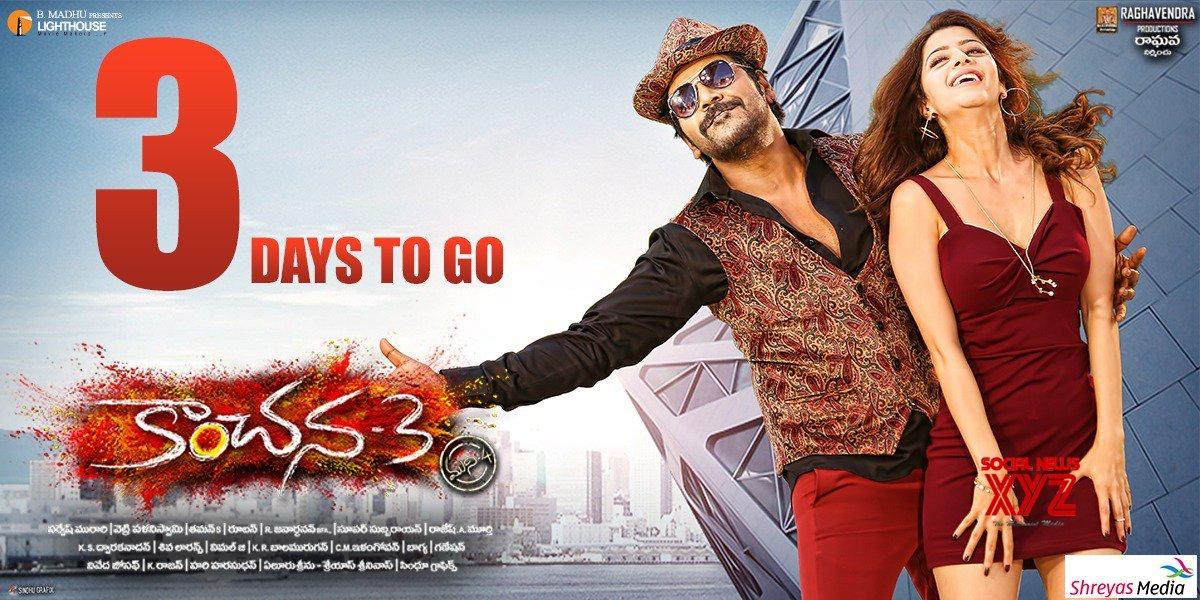 Kanchana 3 Movie 3 Days To Go Poster