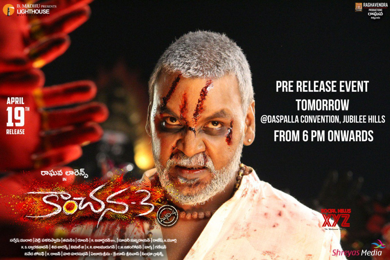 Kanchana3 Pre Release Event Tomorrow At Daspalla Convention In Hyderabad From 6 PM