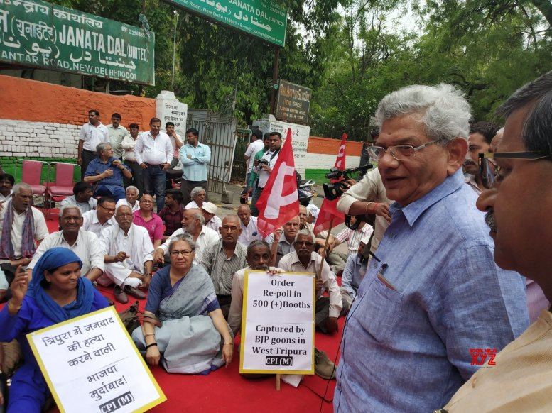 CPI-M protests, demands repoll in 464 Tripura booths