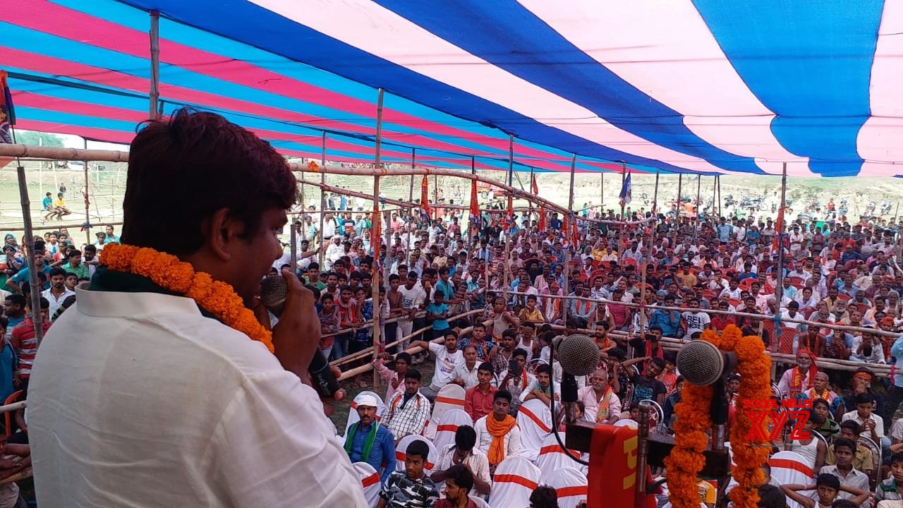 Khagaria (Bihar): VIP chief Mukesh Sahni at a public rally #Gallery