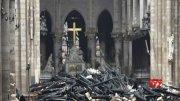 Notre Dame's fire-damaged interior revealed  (Video)