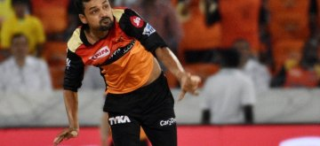 Hyderabad: Sunrisers Hyderabad's Shahbaz Nadeem in action during the 33rd match of IPL 2019 between Sunrisers Hyderabad and Chennai Super Kings at Rajiv Gandhi International Stadium in Hyderabad on April 17, 2019. (Photo: IANS)