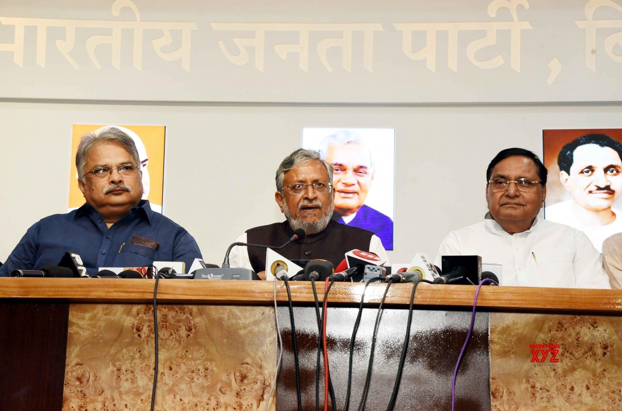 Patna: Sushil Kumar Modi's press conference #Gallery
