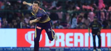 Jaipur: Kolkata Knight Riders' Harry Gurney in action during the 21st match of IPL 2019 between Rajasthan Royals and Kolkata Knight Riders at Sawai Mansingh Stadium in Jaipur on April 7, 2019. (Photo: IANS)