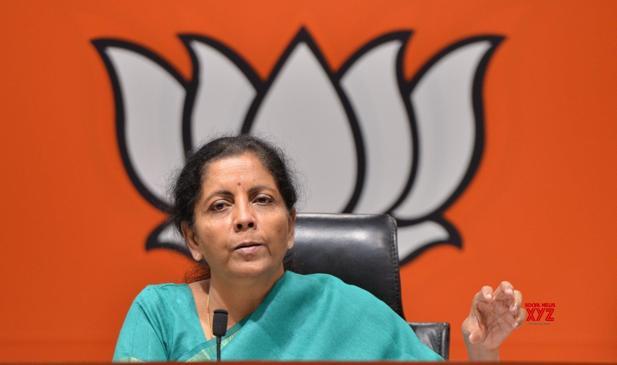 New Delhi: Nirmala Sitharaman's press conference #Gallery