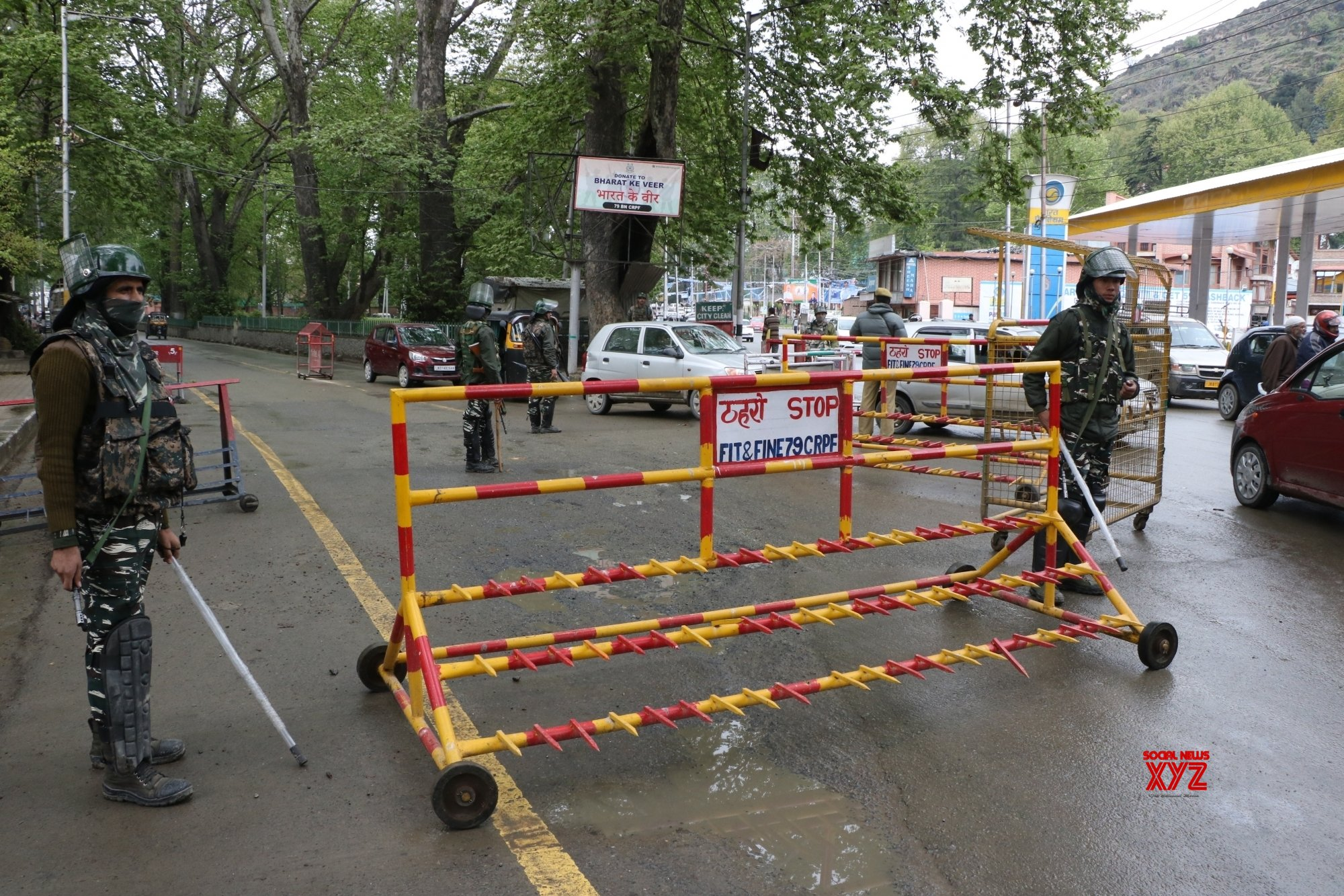 Poll, security staff reach polling stations in J&K