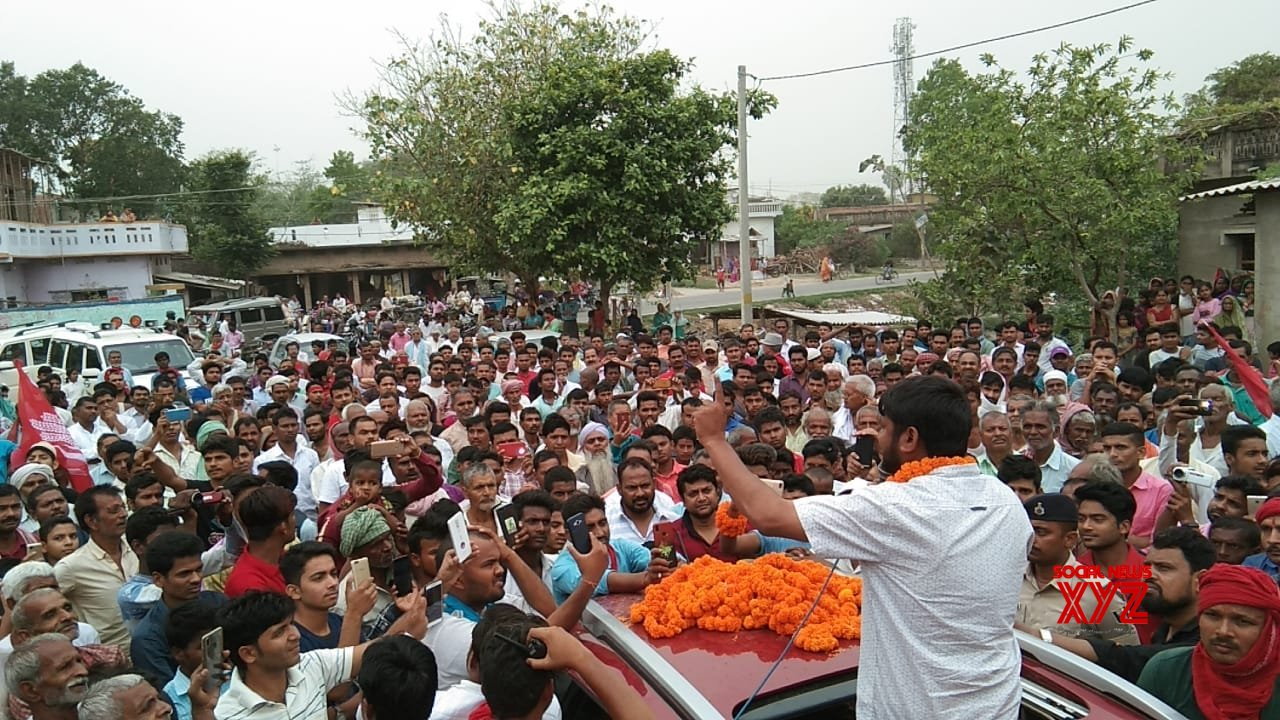 Begusarai (Bihar): 2019 Lok Sabha elections - Kanhaiya Kumar during poll campaign #Gallery