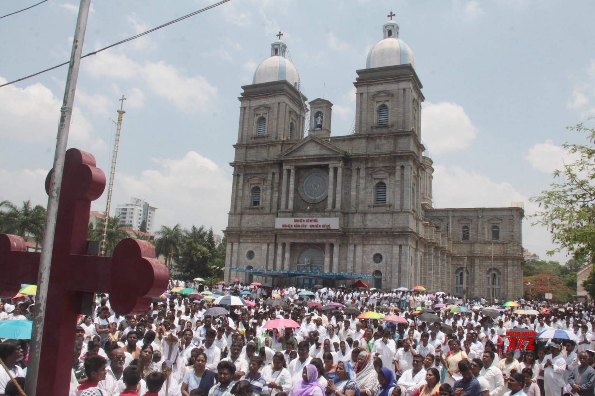 Bengaluru: Good Friday - Devotees offer prayers at St. Francis Xavier's Cathedral Church #Gallery
