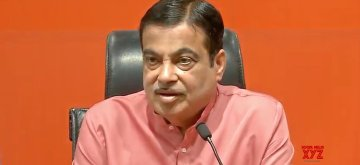 New Delhi: Union Minister Nitin Gadkari addresses a press conference at the BJP headquarter, in New Delhi on May 9, 2019. (Photo: IANS)