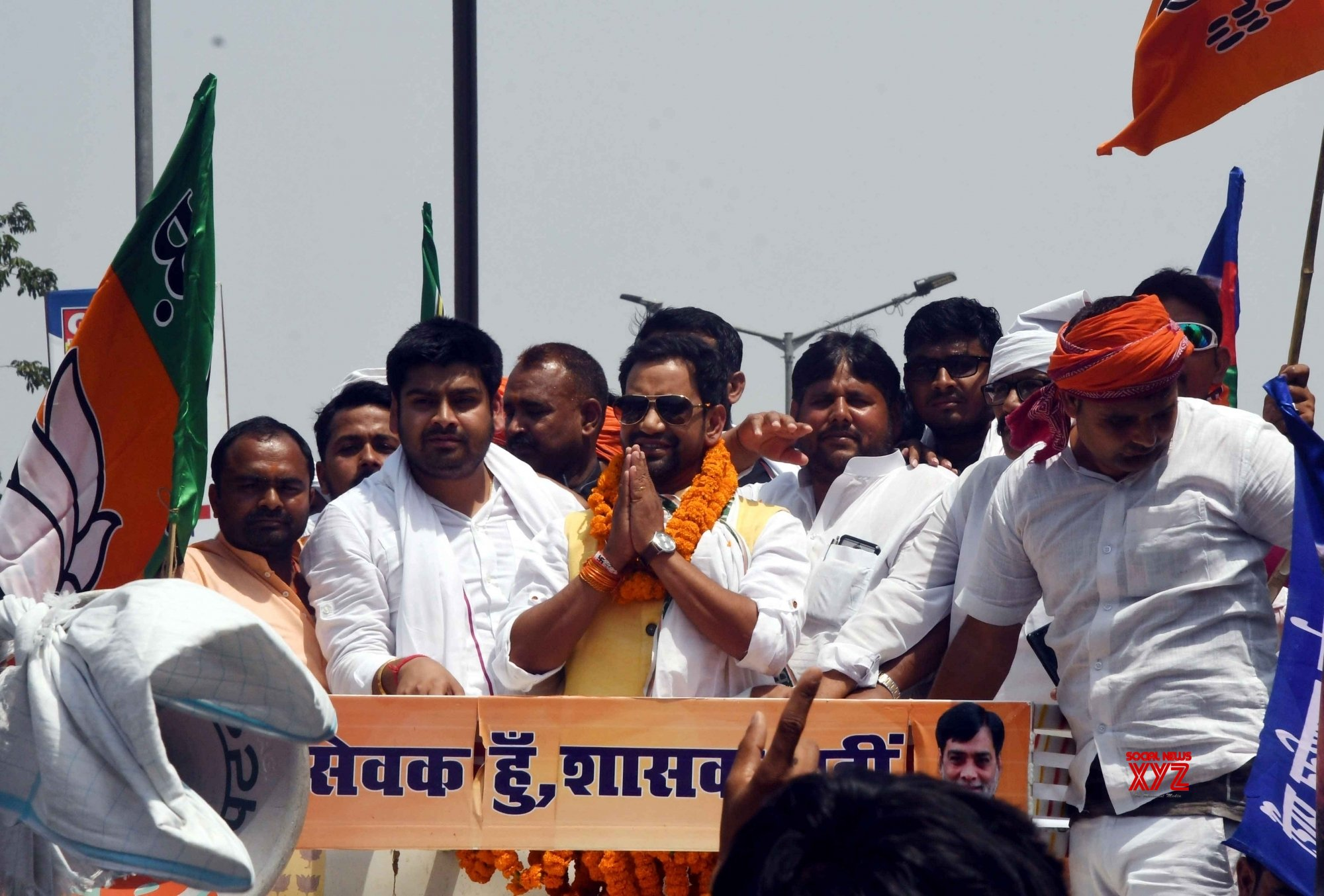 Danapur (Bihar): Dinesh Lal Yadav's roadshow #Gallery