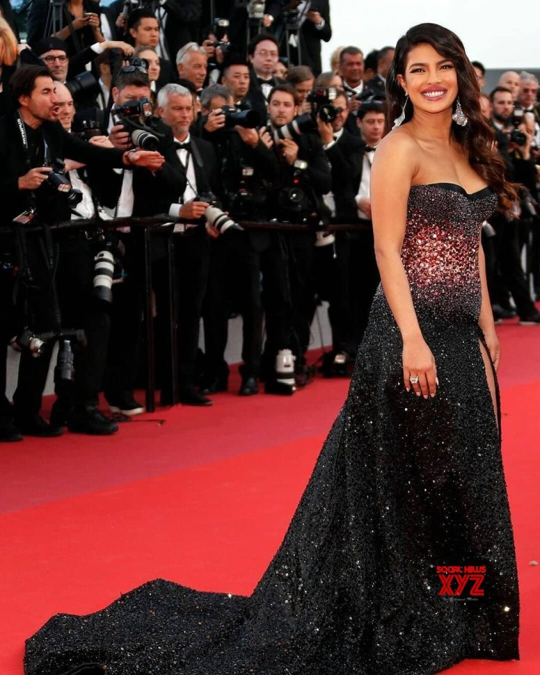 Priyanka Chopra shimmers in black at Cannes debut