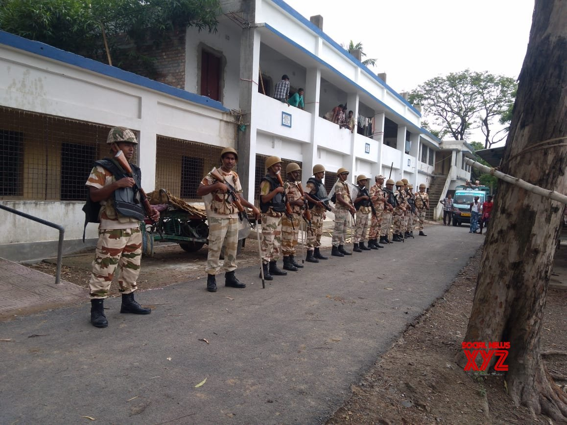 Basirhat: ITBP personnel conduct flag march #Gallery