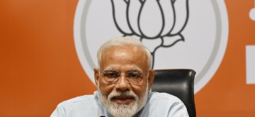 New Delhi: Prime Minister Narendra Modi addresses a press conference at the party's headquarter in New Delhi, on May 17, 2019. (Photo: Bidesh Manna/IANS)
