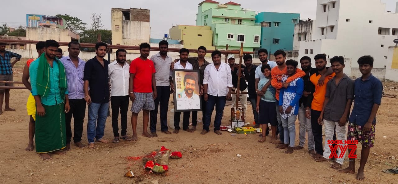 NGK Movie India's Largest Cut Out Works Started This Morning With Pooja