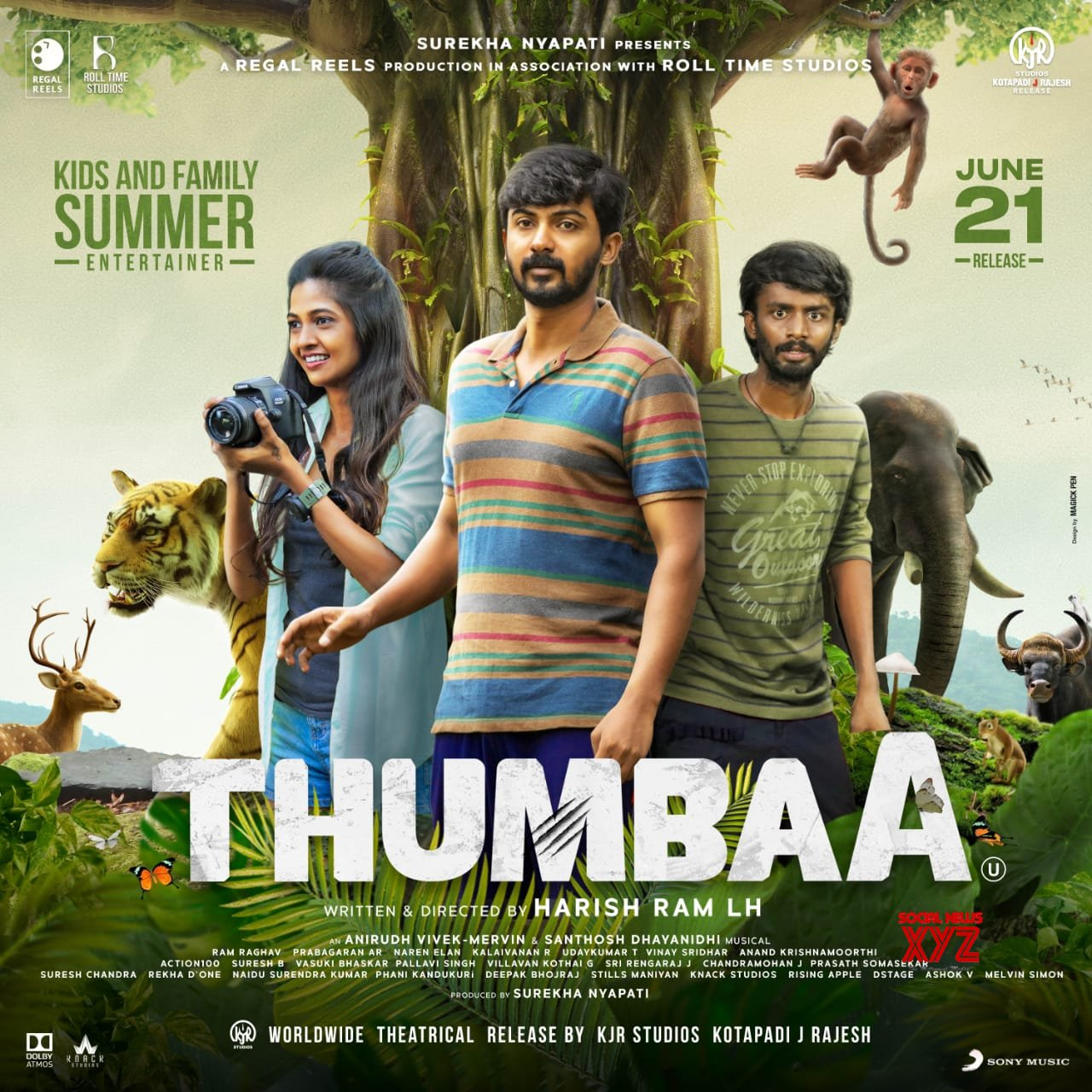 Thumbaa Movie To Release On June 21st Poster
