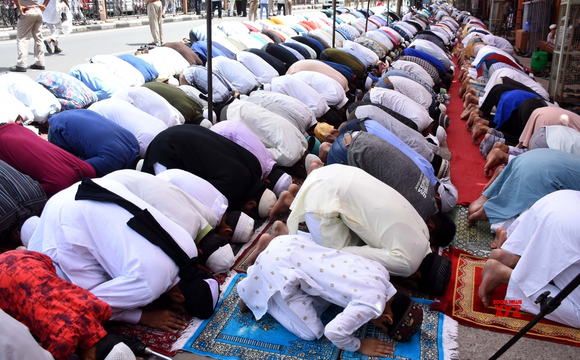 Jaipur: Ramadan - Devotees offer Friday prayers #Gallery