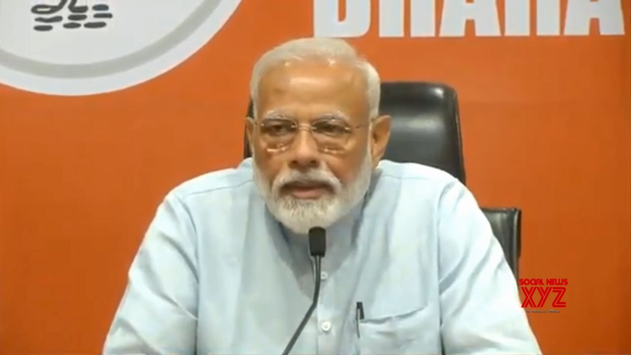 New Delhi: PM Modi addresses a press conference #Gallery