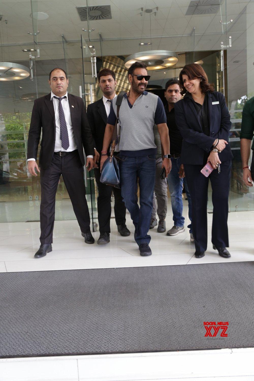 New Delhi: Ajay Devgn, Rakul Preet Singh seen at a hotel #Gallery