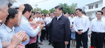 GANZHOU, May 21, 2019 (Xinhua) -- Chinese President Xi Jinping, also general secretary of the Communist Party of China Central Committee and chairman of the Central Military Commission, visits residents of Tantou Village in Yudu County, Ganzhou City, during an inspection tour of east China's Jiangxi Province. Xi on Monday visited an old revolutionary base area in the south of Jiangxi Province during the inspection. (Xinhua/Ju Peng/IANS)
