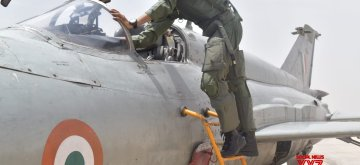Agartala: Flight Lieutenant Bhawana Kanth becomes the first woman fighter pilot to be qualified to undertake missions on a fighter aircraft after she completed Day operational syllabus on MiG-21 Bison aircraft, on May 22, 2019. She had joined fighter squadron in 2017 and flew MiG-21 Bison solo in March 2018. (Photo: IANS)