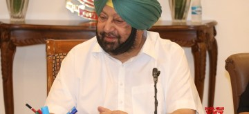 Chandigarh: Punjab Chief Minister Amarinder Singh addresses a press conference, in Chandigarh, on May 23, 2019. (Photo: IANS)