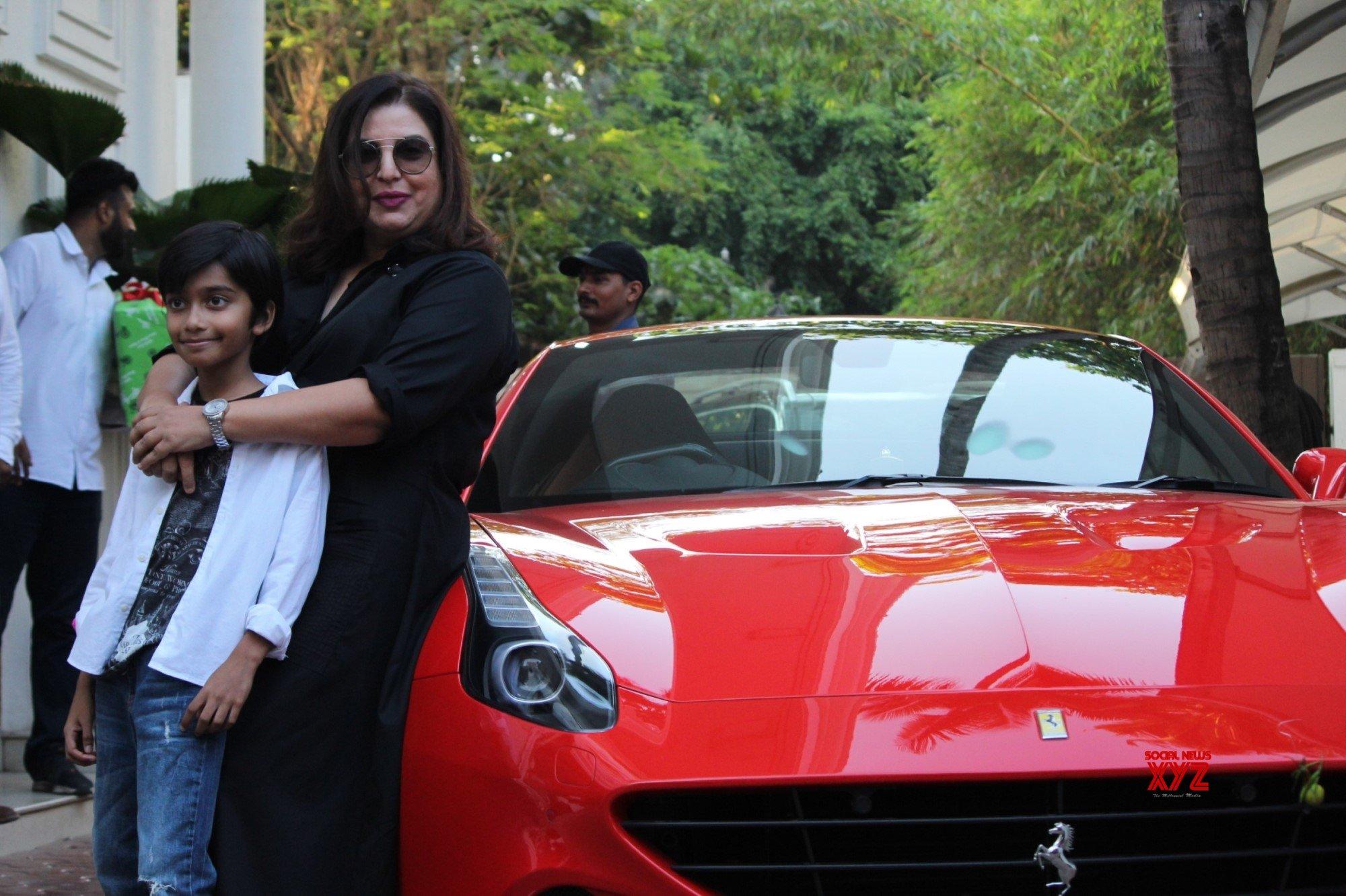 Mumbai: Farah Khan at birthday celebrations of Shilpa Shetty's son #Gallery