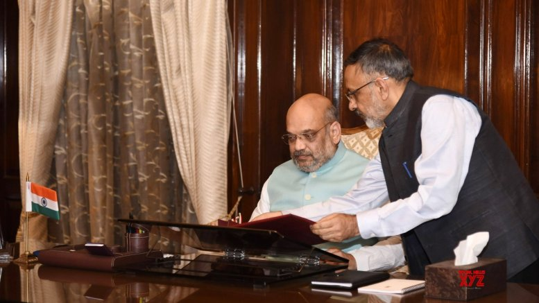 On day one, Amit Shah's focus remains Kashmir